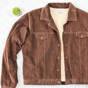 Mod-O-Doc Sherpa Lined Corduroy Jacket Snap Front